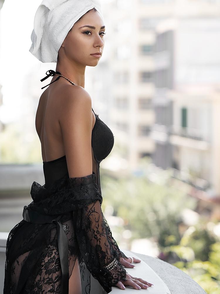 FENI BLACK LACE BODYSUIT
