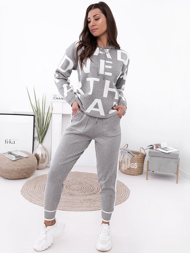 ABC GREY KNITTED SET
