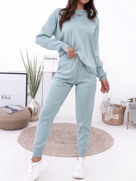 BRITANNY MINT KNITTED SET