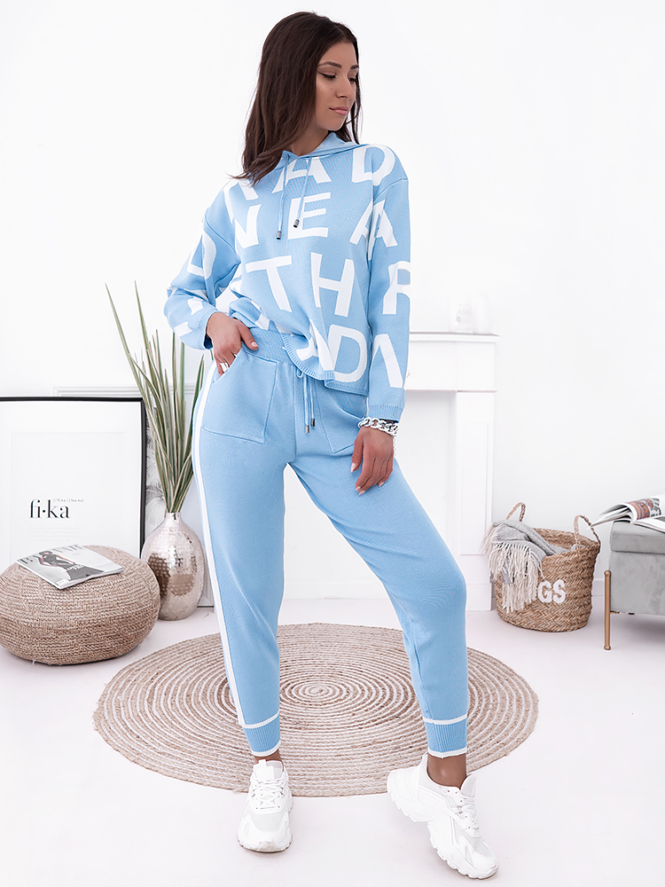 ABC BABY BLUE KNITTED SET