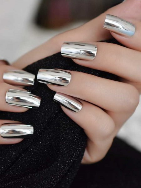 MIRROR SQUARED FALSE NAILS