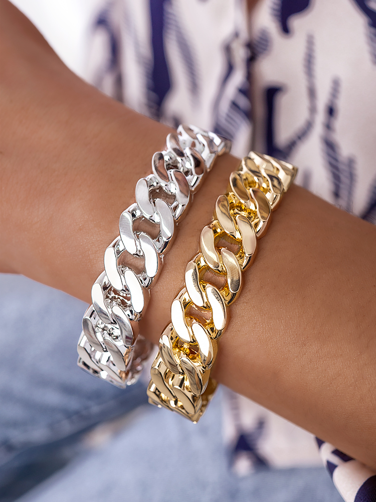 BIG CHAIN STEEL BRACELET (2 COLORS)