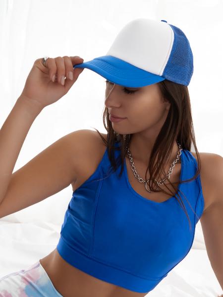 TRUCKER HAT BLUE & WHITE