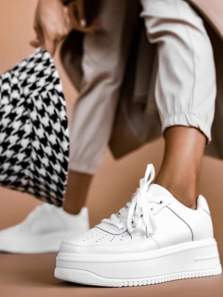 SPEED WHITE SNEAKERS