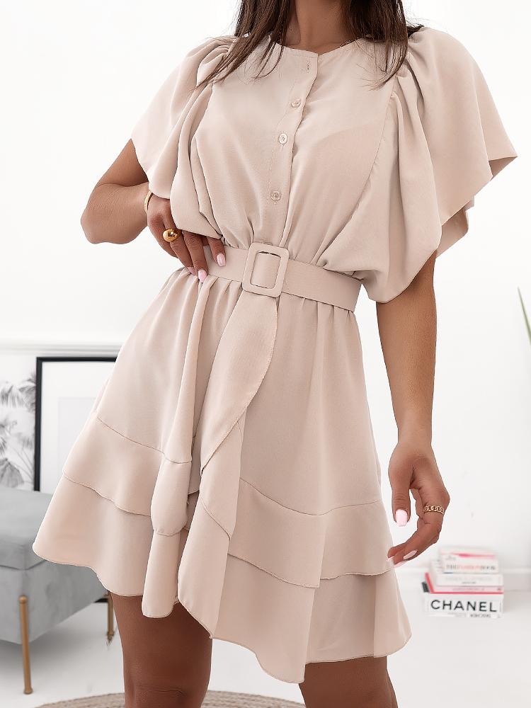 ANNE BEIGE DRESS