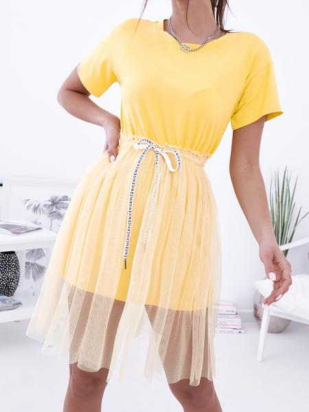 HALO YELLOW TULLE DRESS
