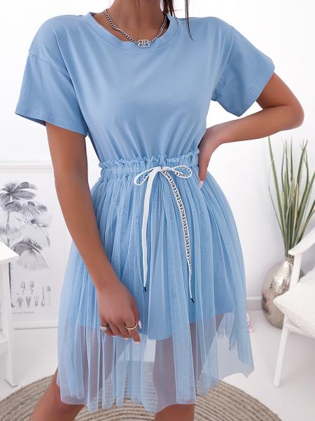 HALO SKY BLUE TULLE DRESS