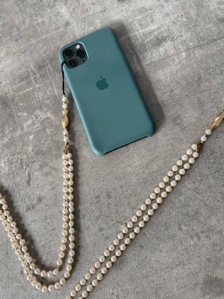 PHONE PEARLS & FISH STRAP