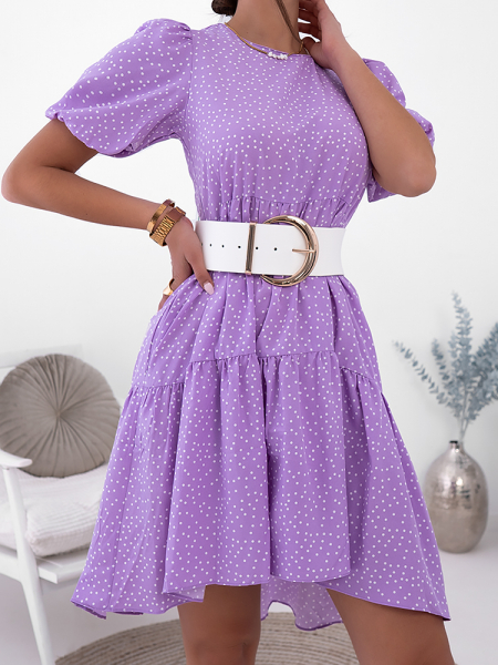 EVITA DOT PURPLE DRESS