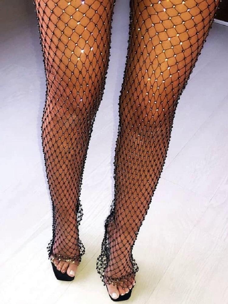 STRASS NET PANTS
