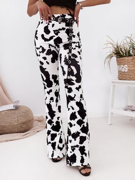 NICOLE COW PRINT PANTS