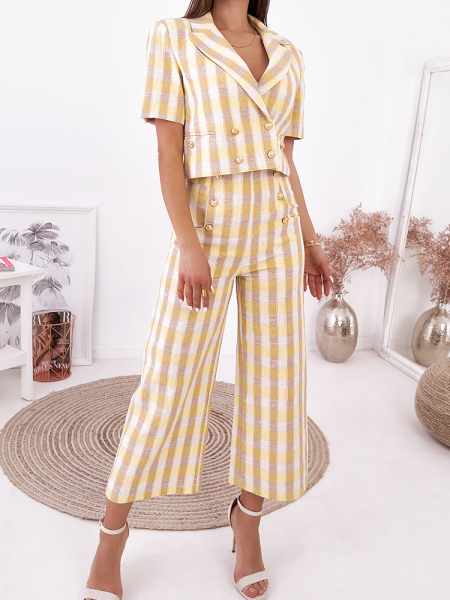 CAITLIN YELLOW CHECKED SET