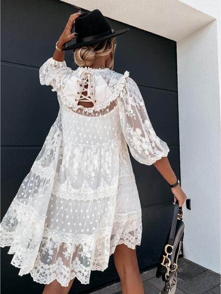 FIERA CREAM DRESS