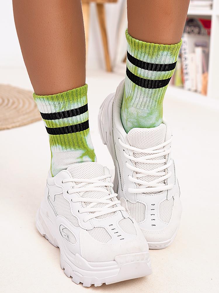 GREEN TIE DYE SOCKS