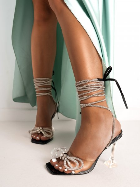 BOW STRASS SANDALS