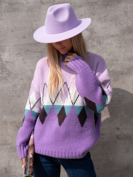 QUENTIN LILAC KNITTED BLOUSE
