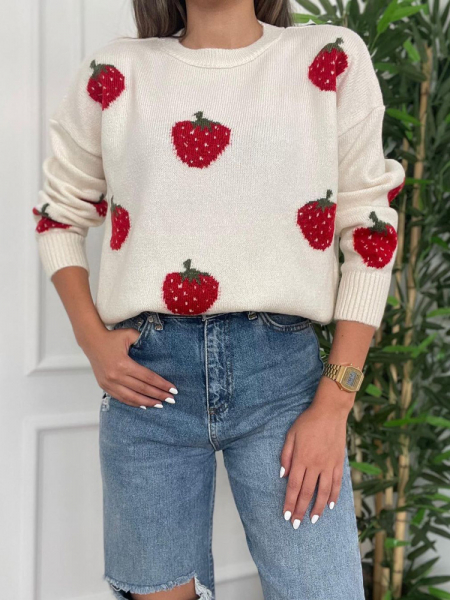 STRAWBBERY KNITTED BLOUSE
