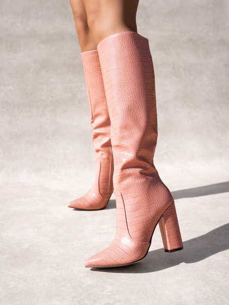 HUGO DUSTY PINK BOOTS