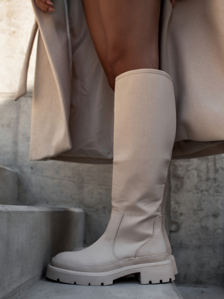 MESSINA BEIGE BOOTS