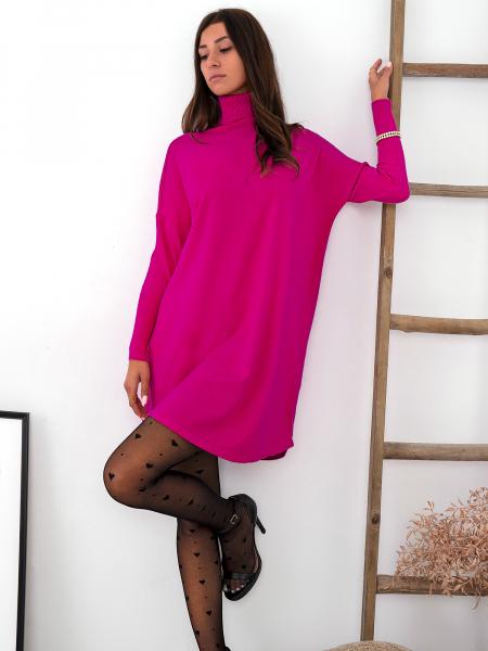 RIGNET FUCHSIA KNITTED DRESS