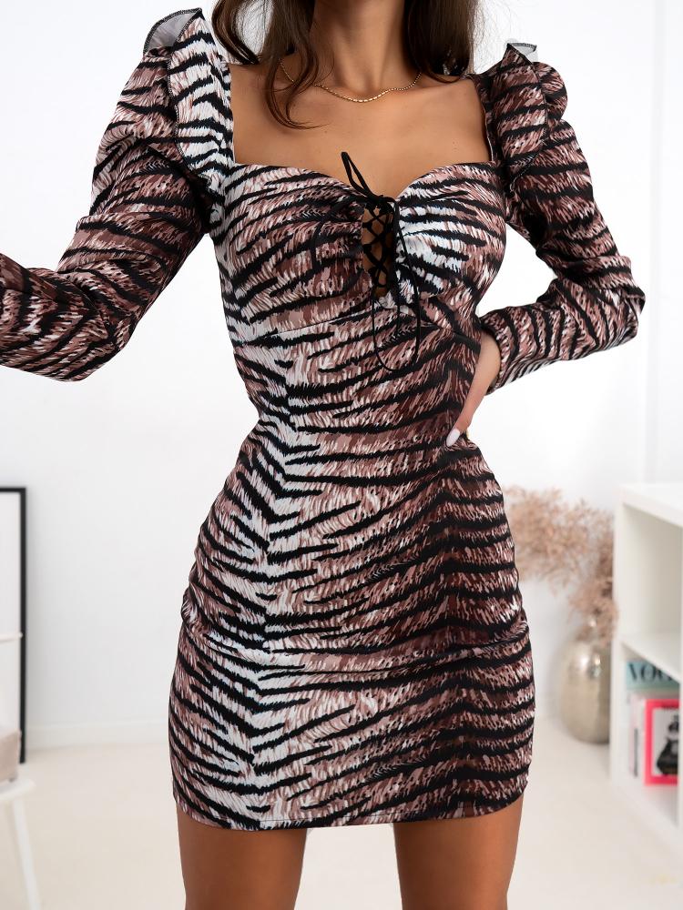 XANDRIA TIGER DRESS