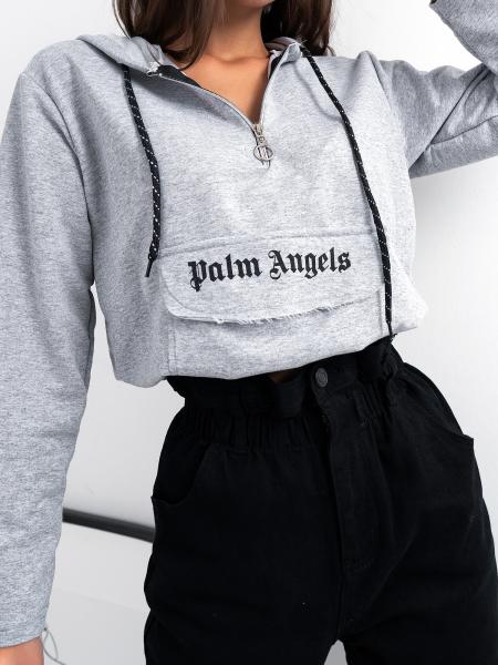 PALM ANGELS GREY HOODIE