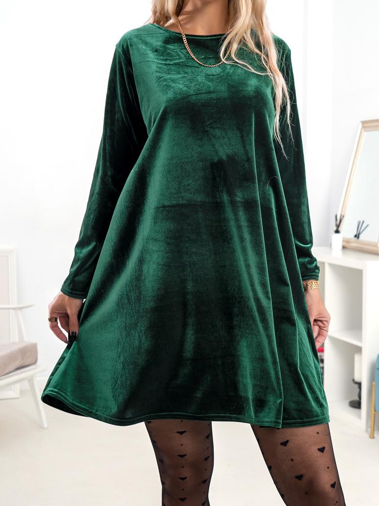 DALINA EMERALD VELVET DRESS
