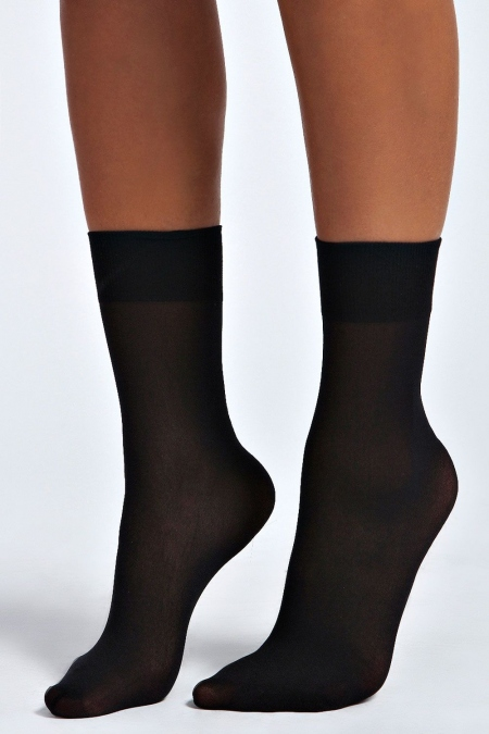 Midi socks black 3 τεμ