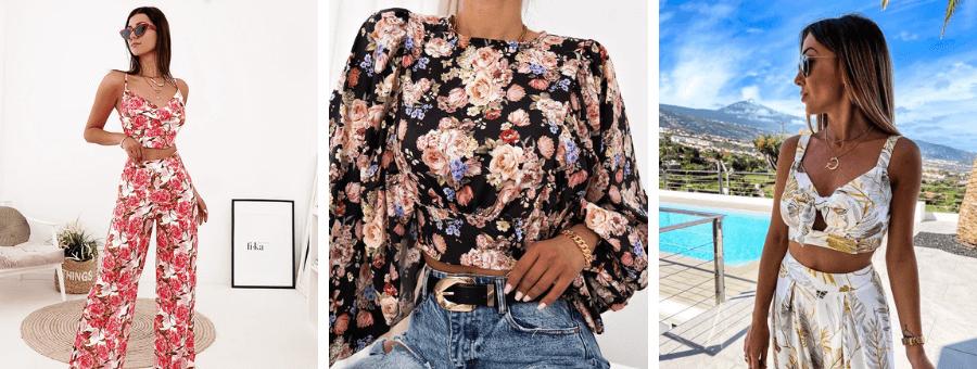 Floral επιλογές σε γυναικεία ρούχα