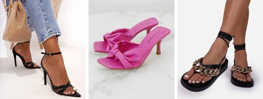 Μοντέρνα καλοκαιρινά γυναικεία παπούτσια