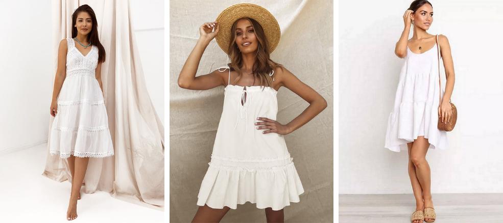 Καλοκαιρινά φορέματα λευκά