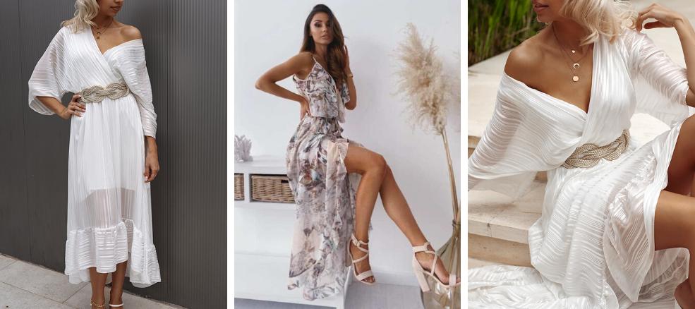 Καλοκαιρινά Φορέματα σε Λευκούς τόνους
