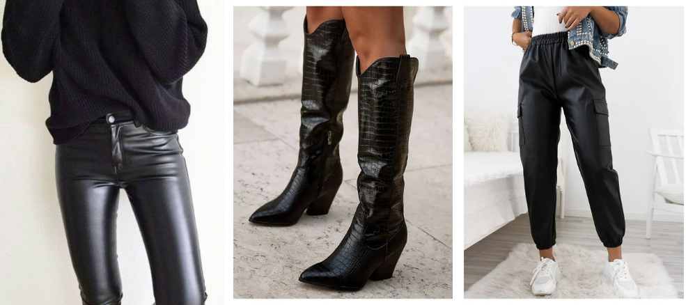 Leather Look Παντελόνια