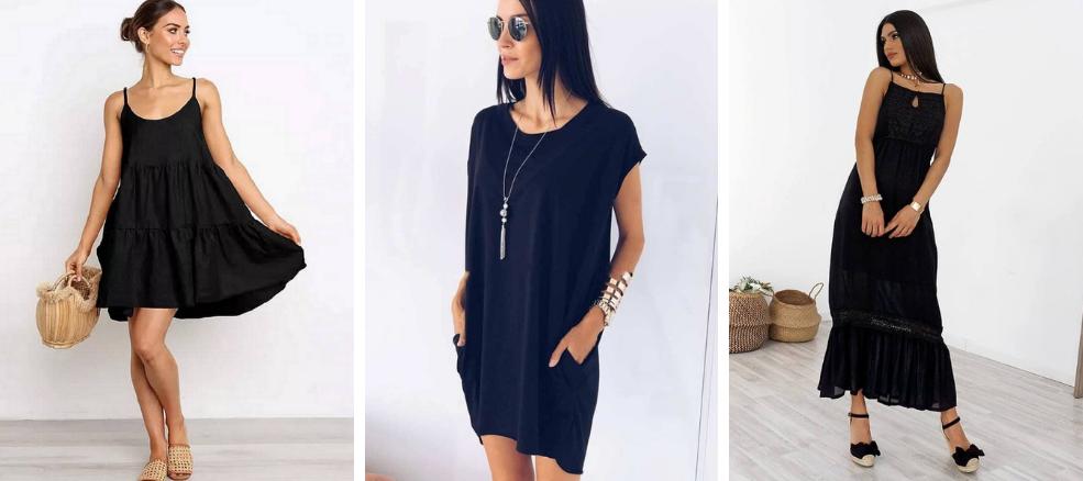 μαύρο-φόρεμα-για-το-καλοκαίρι