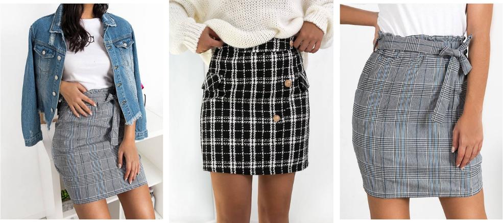 Νέες καρό φούστες στο FashionRoom