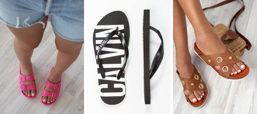 Παπούτσια για διακοπές: σαγιονάρες και φλατ