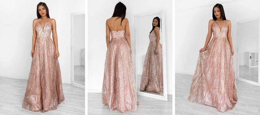 Dusty Pink Φόρεμα για Γάμο ή Βάφτιση