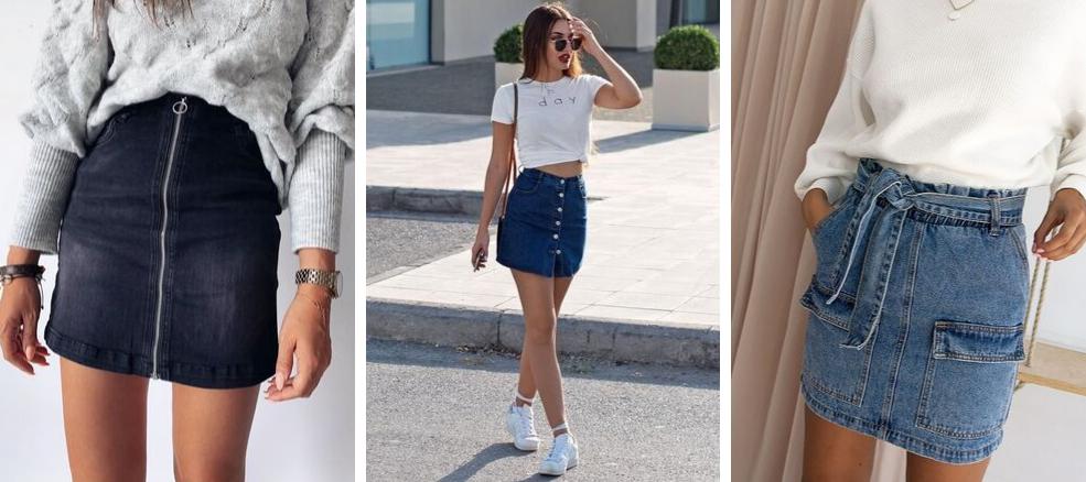 Skirt collection denim φούστες