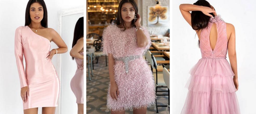 ροζ βραδινά φορέματα